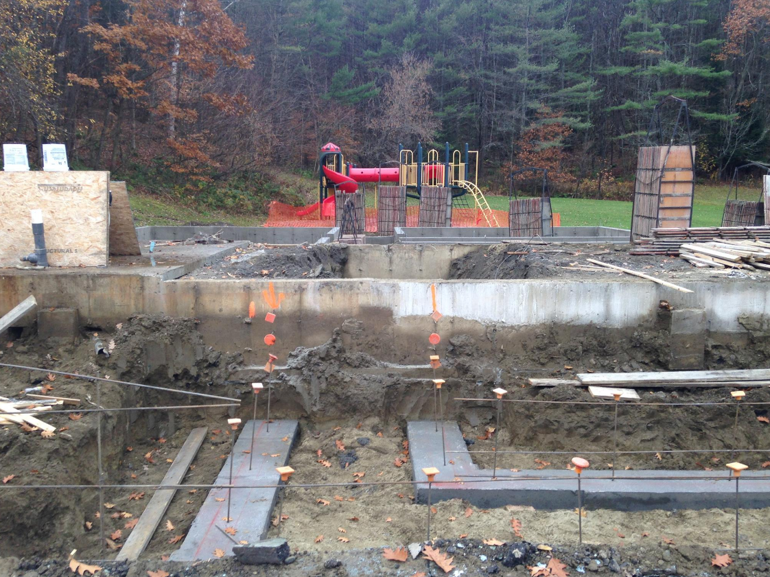 Foundation of new building being constructed