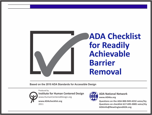 ADA Checklist for Readily Achievable Barrier Removal