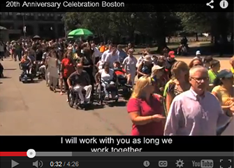 Screen shot from our ADA 20th Anniversary celebration video