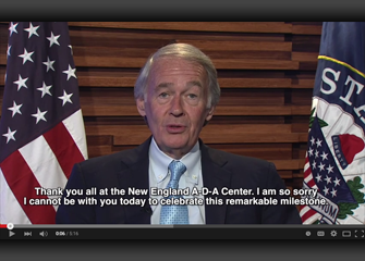 Senator Ed Markey ADA 25th Anniversary video screengrab