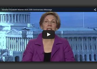 Screen grab of Senator Elizabeth Warren video