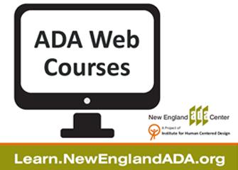 ADA Web Courses at learn.newenglandada.org